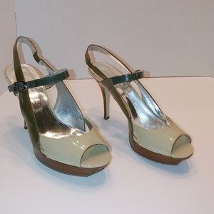 Marc Fisher Doritta 2 tone stiletto platform heels